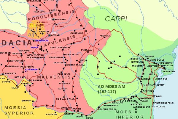 Harta Traditionala Provincia Dacia